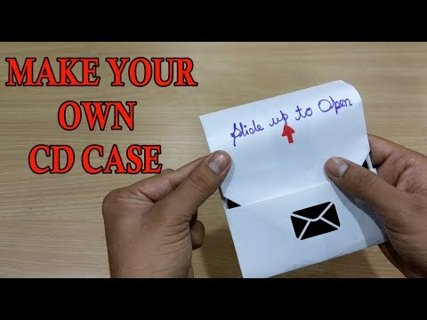 How to make a CD case with paper | CD or DVD cover | by EASYWAYZ