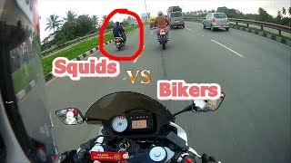 Squids wants to race!! Bikers best ever reply