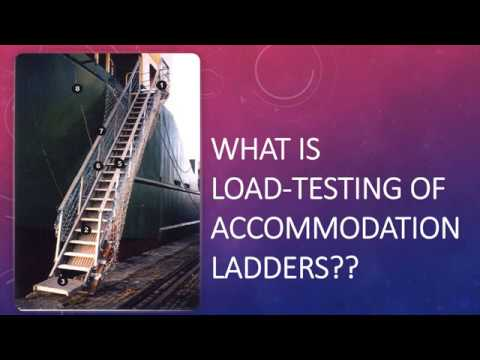 How are accommodation ladders load-tested on ships?? Orals examination question!!
