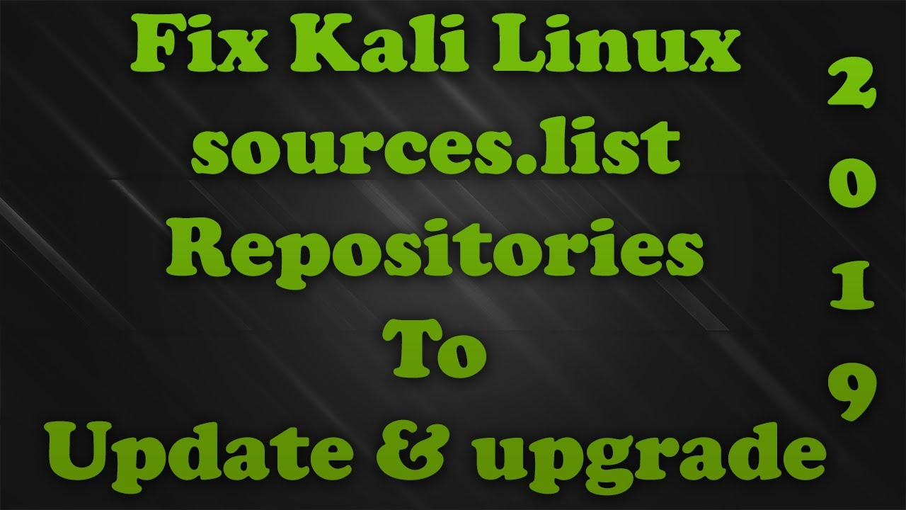 how to update Kali Linux and Fix update error - KaliTut