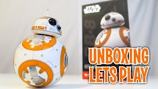 Unboxing & Let's Play : BB-8 Star Wars Droid ROBOT Toy by Sphero  (FULL REVIEW)