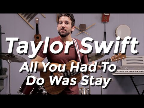 Taylor Swift - All You Had To Do Was Stay (Guitar Tutorial) By Shawn Parrotte