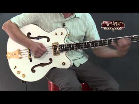 Gretsch Guitars G6136LSB White Falcon Bass Guitar White