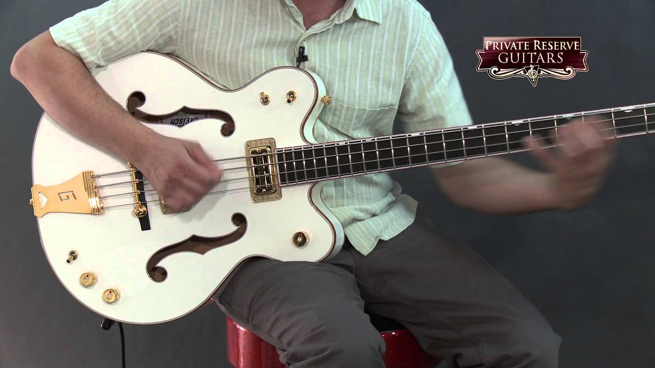 Gretsch Guitars G6136LSB White Falcon Bass Guitar