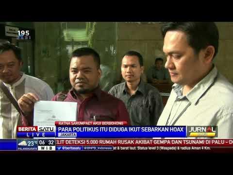 17 Tokoh Politik Dilaporkan Terkait Kasus Hoaks Penganiayaan Ratna Sarumpaet