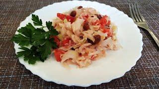 Сытный фитнес салат