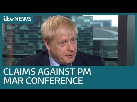 Claims against Boris Johnson overshadow Conservative Party Conference | ITV News
