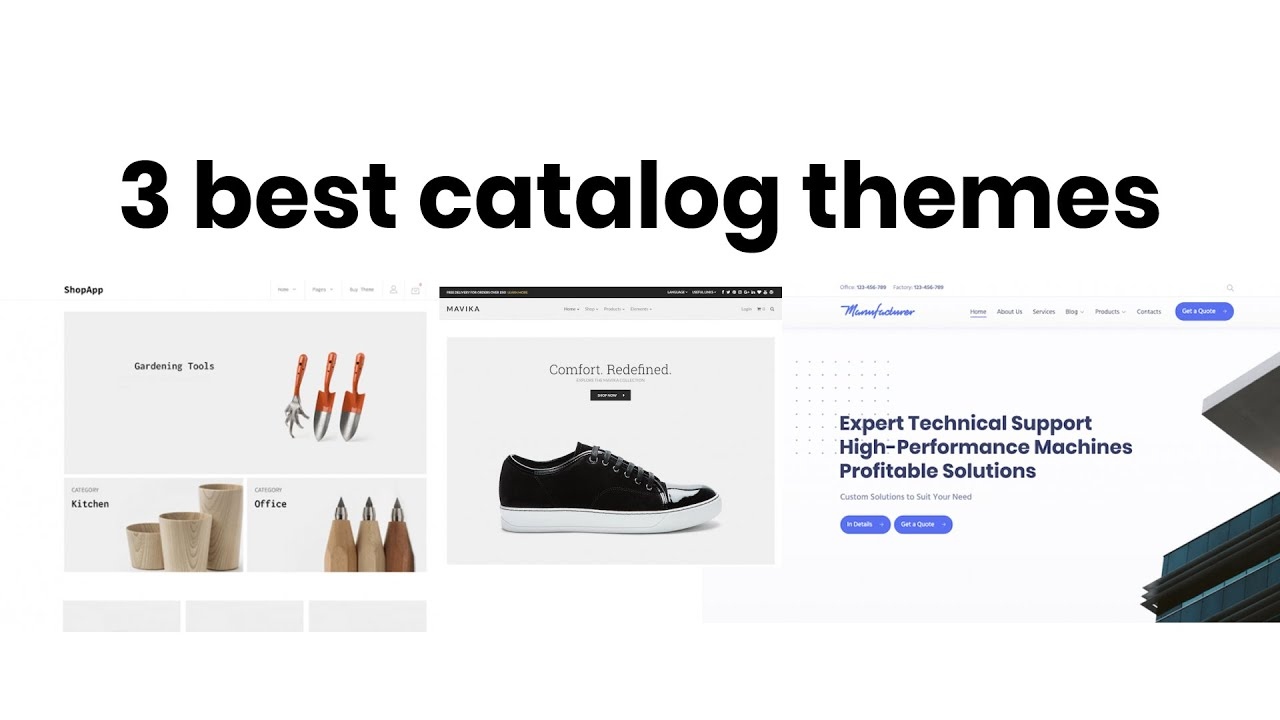 3 Best Products Catalog Wordpress Themes 2019