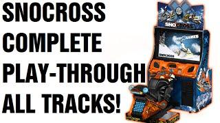 SNOCROSS X Arcade Snowmobile Game COMPLETE PLAY THROUGH!