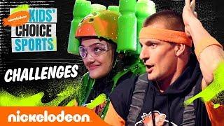 KCS Challenges  ft. Laurie Hernandez &amp Rob Gronkowski  #KidsChoiceSports