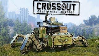 Crossout Crazy Spider MECH TANK!  (Crossout Open Beta Gameplay Part 1)