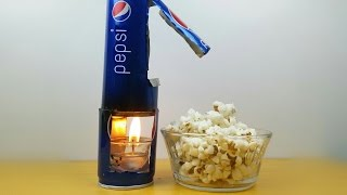 How to Make Popcorn Machine With Pepsi Can