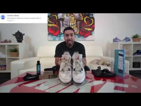 How to clean Air Jordan White Cement 4's