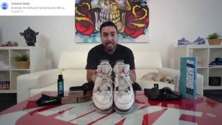 How to clean Air Jordan White Cement 4's