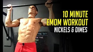 "10 Minute EMOM Workout for Upper Body Strength - ""Nickels & Dimes"""