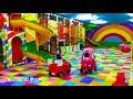 Naik mobil mainan anak amp mandi Bola Balon yang banyak Sekali amp perosotan asik sekali bersama teman