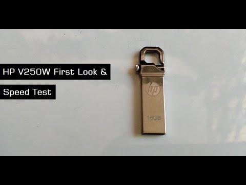 e2e0a93ebfc HP V250W 16GB Stainless Steel Pendrive - YouTube