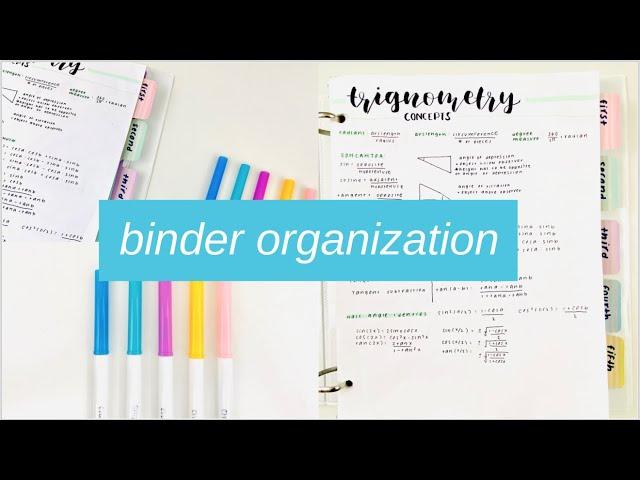 binder organization tips + how to keep it organized // back to school organization