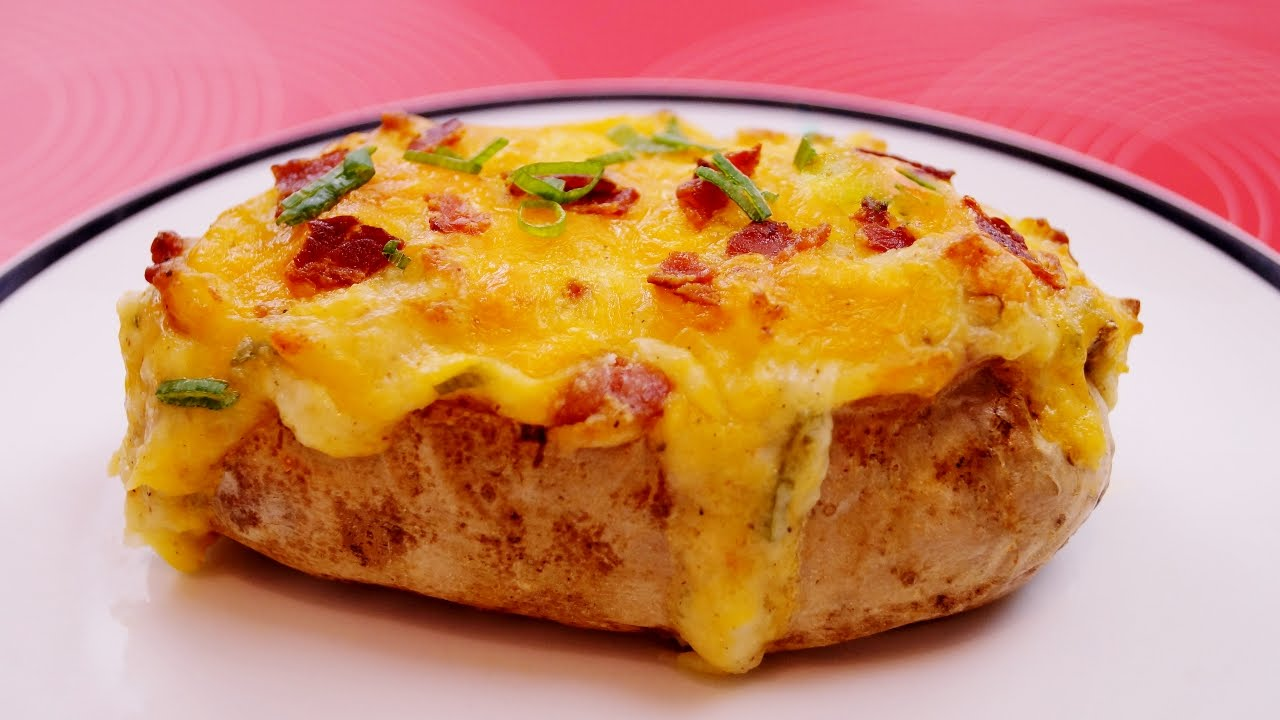 Twice Baked Potatoes: Recipe: How To Make Loaded Potatoes: Diane Kometa   Dishin With Di # 157  Youtube