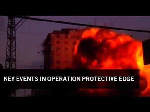 Key events in Operation Protective Edge; Archice;    media24, AlSharyatv, Reuters