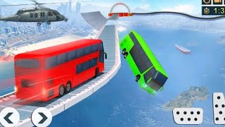 Impossible bus stunts  - car video for kids - car for kids - car game for kids