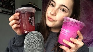 ASMR| Trying POPULAR Starbucks Drinks |