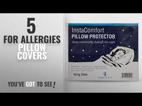 Top 10 For Allergies Pillow Covers [2018 ]: Allergy Pillow Covers – InstaComfort Super Soft 100%