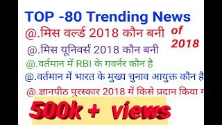 TOP-80 Trending News of November and December 2018