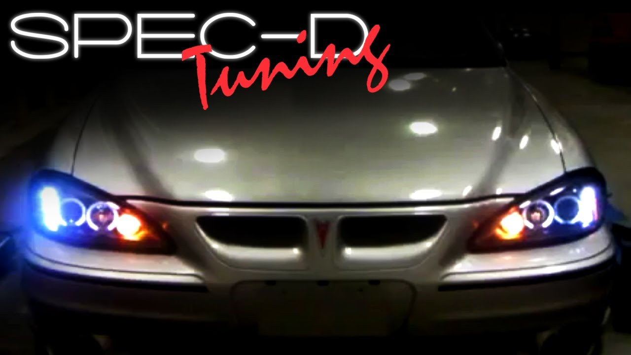 small resolution of specdtuning installation video 1999 2005 pontiac grand am projector headlights installation youtube