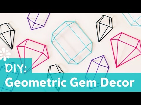 DIY Geometric Gem Decor Wall Art | Sea Lemon