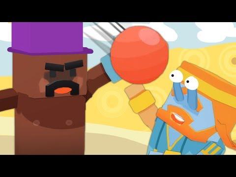 Zombey und maudado spielen Völkerball