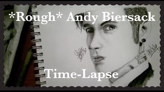 Rough Andy Biersack Time-lapse Drawing **plus drawing tips**