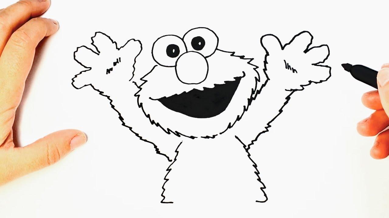 Cómo dibujar a Elmo paso a paso | Dibujo facil de Elmo - YouTube