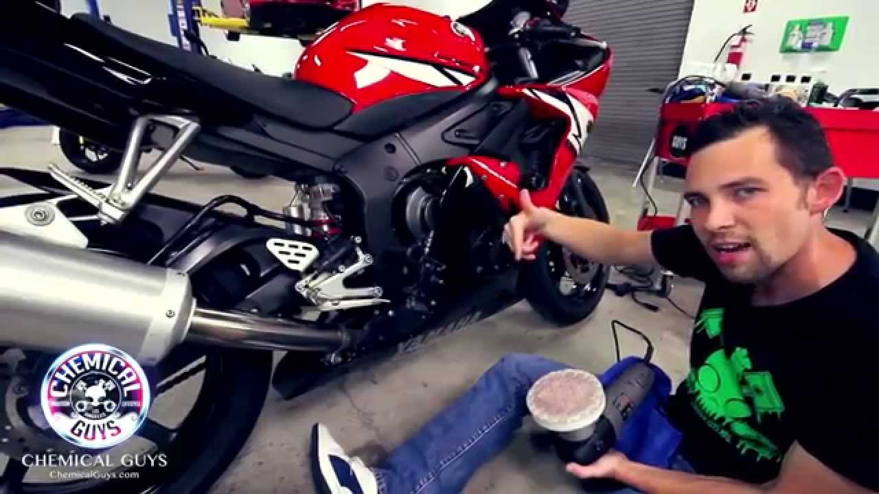 Waterless Car Wash Products How To Clean a Motorcycle - Chemical Guys Detailing Yamaha R6 ...