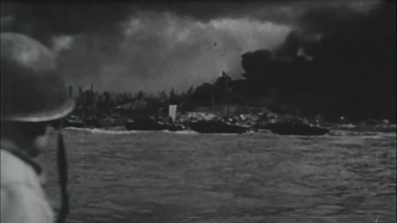 Australian Th Division Lands At Balikpapan Borneo Combat Footage Ww With Sound