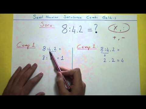 8:4.2 Cevap Videosu Şenol Hoca Matematik