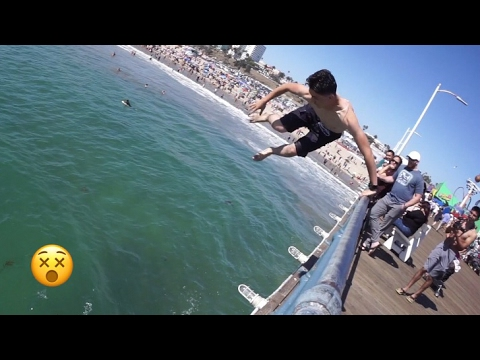 Jumping Off The Santa Monica Pier!!