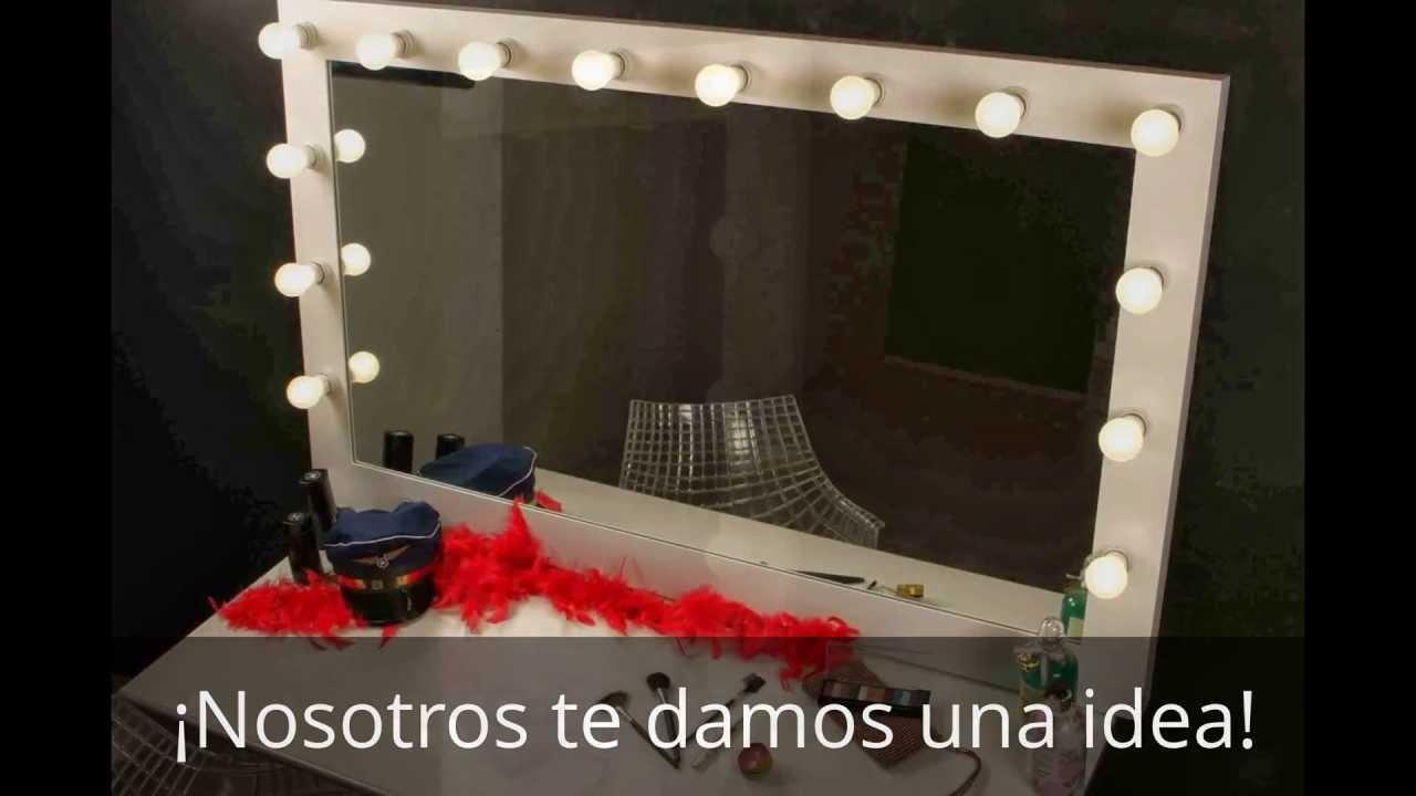 Espejo maquillaje para navidades youtube - Espejos de tocador con luz ...