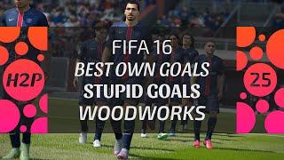 FIFA 16 FAILS & GLITCHES | BEST OWN GOALS, STUPID GOALS, WOODWORKS, MISSES | ONLINE SEASONS | EP. 25