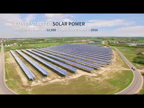 16.6MWth Concentrated solar power plant in Denmark