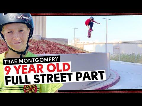 GNARLIEST 9 Year Old Skater Ever?! Trae Montgomery: Full Street Part! | Santa Cruz Skateboards