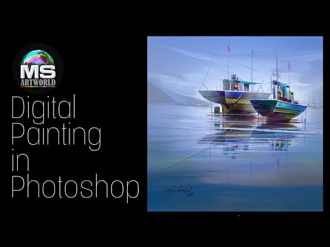 #DIGITAL Painting in #Photoshop by MS Artworld