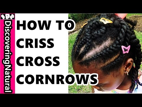 how-to-do-criss-cross-cornrow- -back-to-school-natural-hair-hairstyle-for-kids