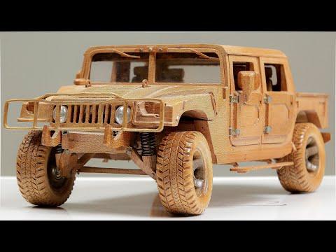Hummer H1 ASMR Woodworking, DIY Car Model by Awesome Woodcraft