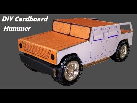How To Make Cardboard Hummer Car - Diy Cardboard Car