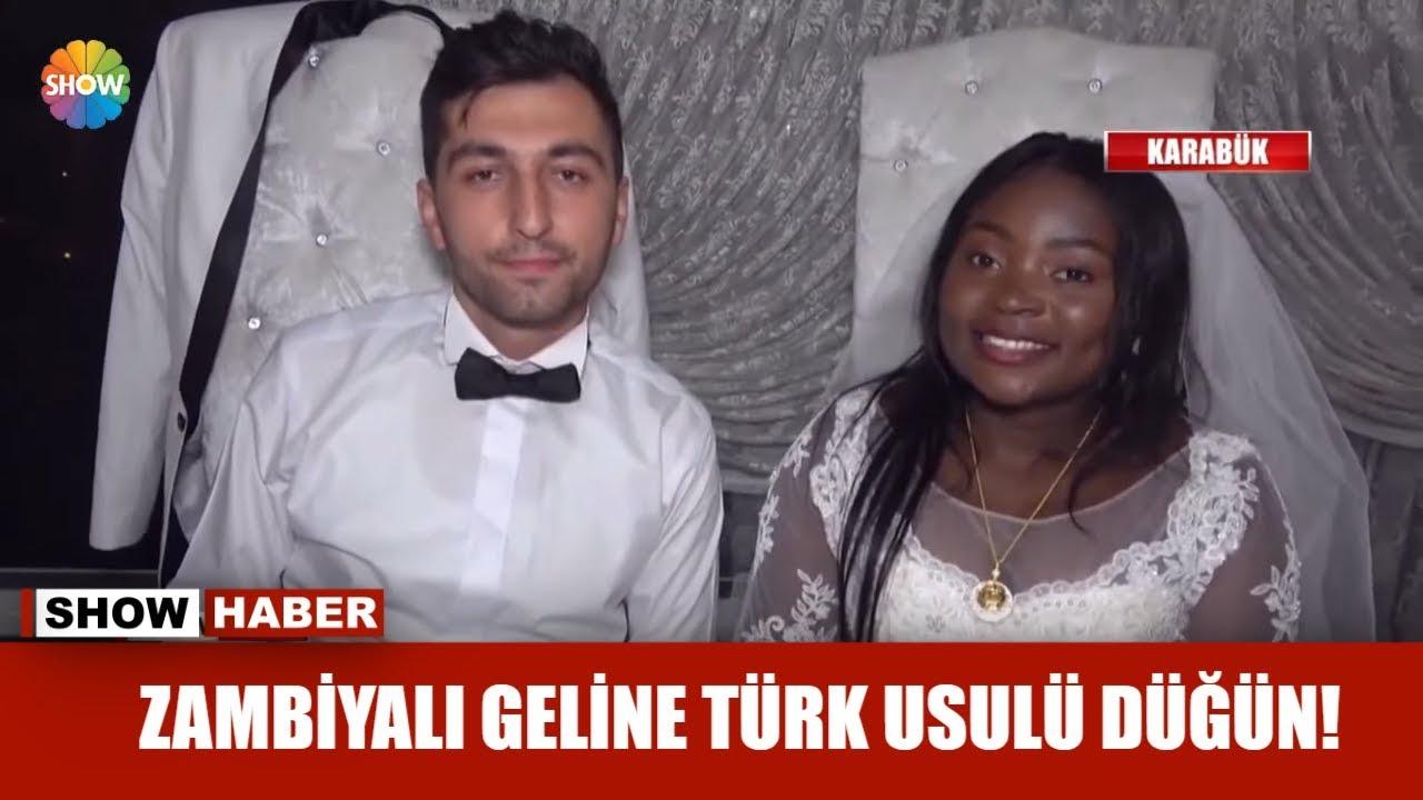 Zambiyalı geline Türk usulü düğün!