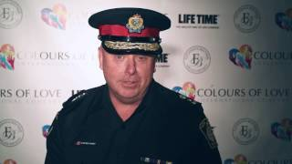 Stephen J. Tanner,  the Chief of the Halton Region Police on Colours of Love International Concert