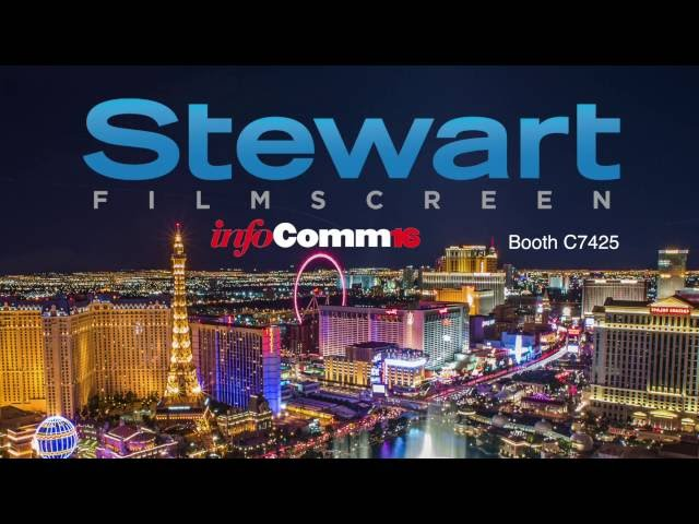 Stewart Filmscreen's Next Generation Projection Screens at InfoComm16