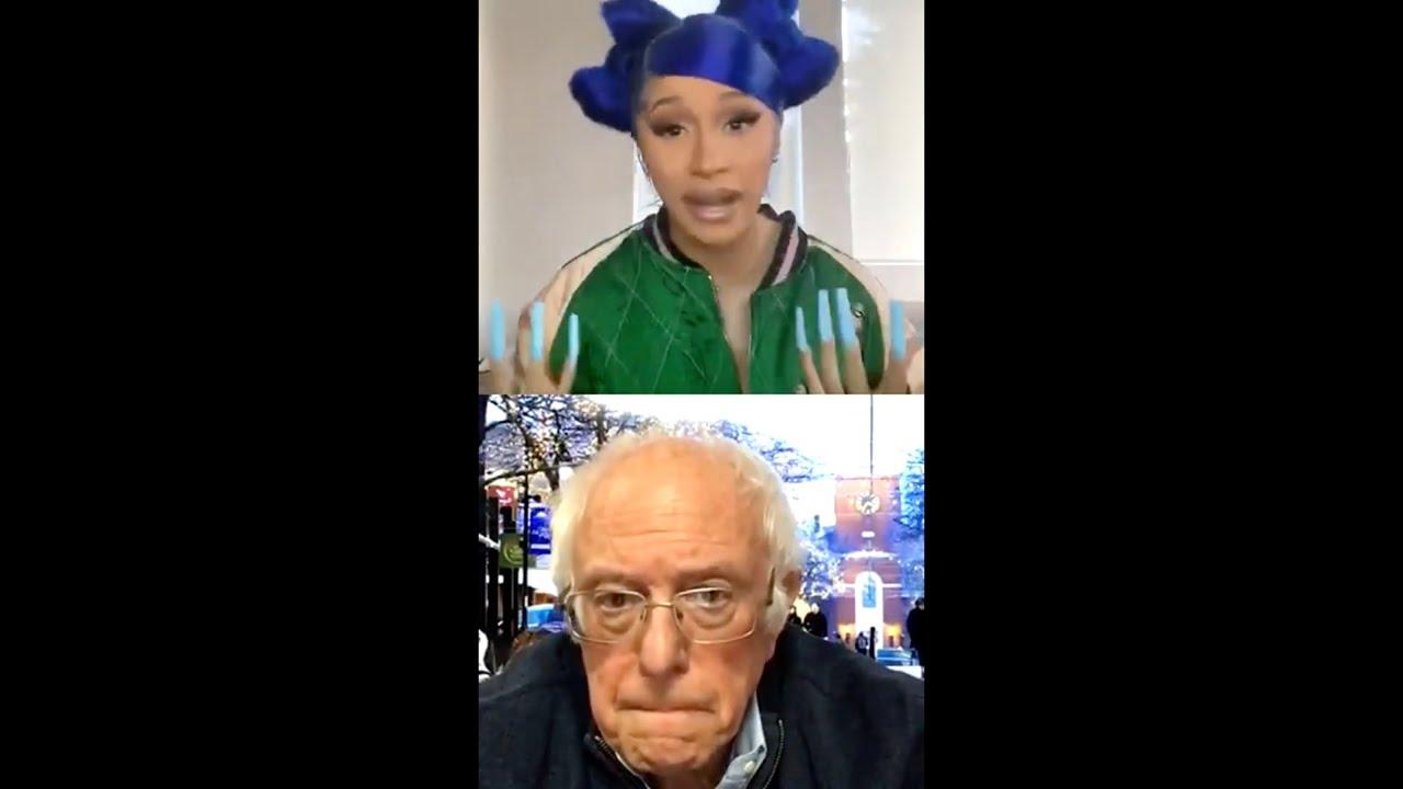 Cardi B talks coronavirus situation and politics...etc with Bernie Sanders (WOW)
