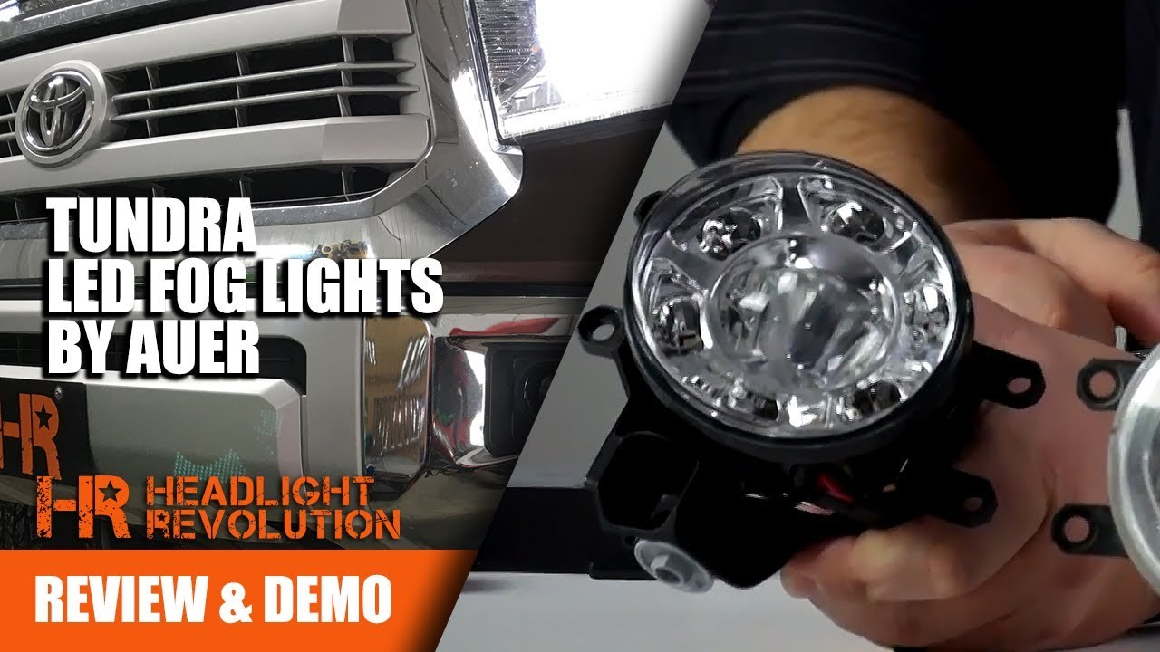 2-in-1 led fog lights for toyota tundra from auer automotive - review and  install